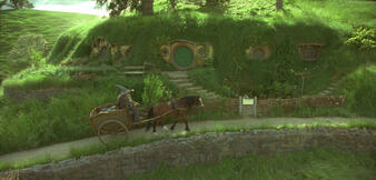Eine Hobbit-Höhle aus Der Herr der Ringe: Die Gefährten