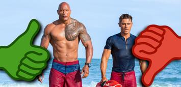 Bild zu:  Baywatch -Dwayne Johnson und Zac Efron versuchen den Strand zu retten