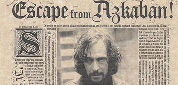 Harry Potters Pate Sirius in der Zeitung - mit unleserlicher Schrift