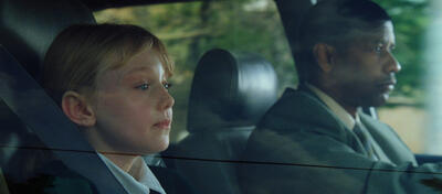 Dakota Fanning und Denzel Washington in Man on Fire