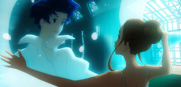 Hinako und Minato zusammen im Wasser