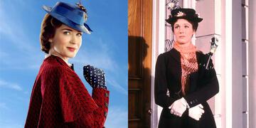 Emily Blunt und Julie Andrews als Mary Poppins