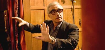Martin Scorsese auf dem Set von Shutter Island
