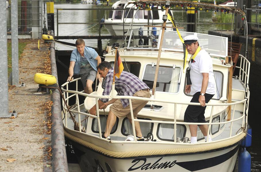 Leichtmatrosen Drei Mann In Einem Boot