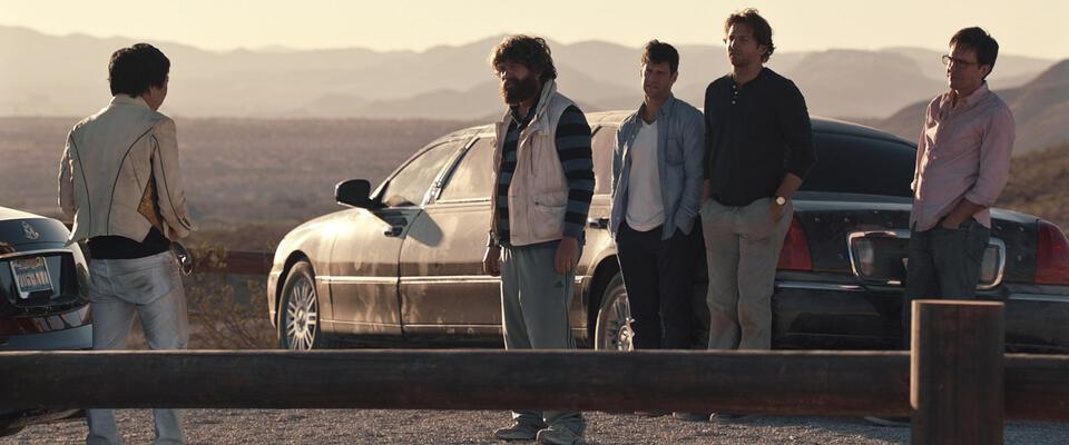 Hangover 3 mit Bradley Cooper, Zach Galifianakis, Ed Helms, Jamie Chung und Justin Bartha