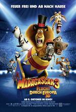 Madagascar 3 - Flucht durch Europa Poster