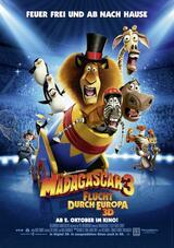 Madagascar 3 - Flucht durch Europa - Poster