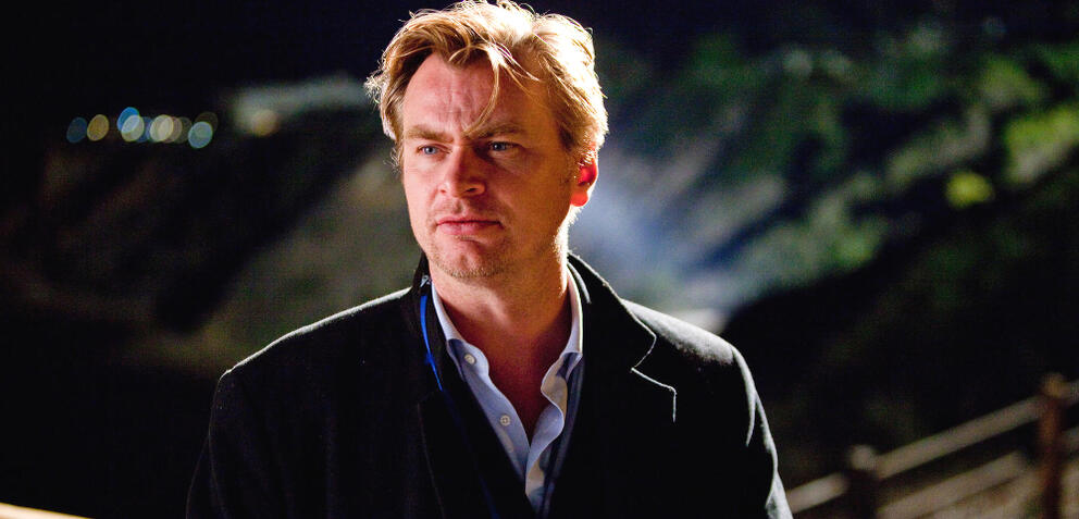 Christopher Nolan am Set von Inception