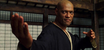 Laurence Fishburne Morpheus in Matrix