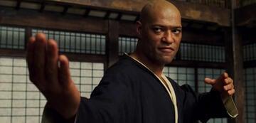 Laurence Fishburne Morpheus in Matrix
