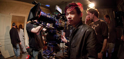 James Wan am Set von The Conjuring