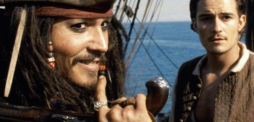 Johnny Depp und Orlando Bloom in Fluch der Karibik