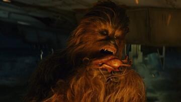 Chewbacca genießt seinen Porg