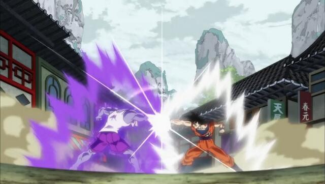 Muten Roshi kämpft gegen Goku