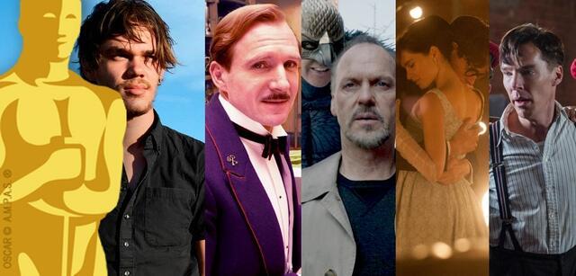 Boyhood, Grand Budapest Hotel, Birdman, Die Entdeckung der Unendlichkeit, The Imitation Game