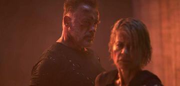 Arnold Schwarzenegger und Linda Hamilton in Terminator: Dark Fate