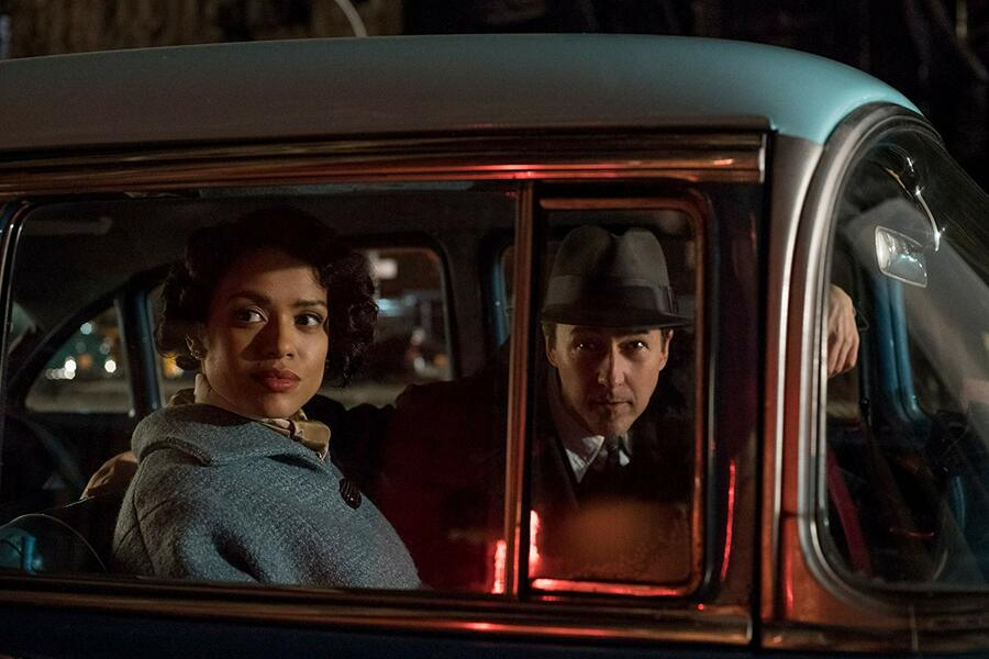 Motherless Brooklyn mit Edward Norton und Gugu Mbatha-Raw
