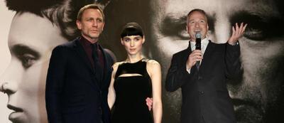 Daniel Craig, Rooney Mara und David Fincher