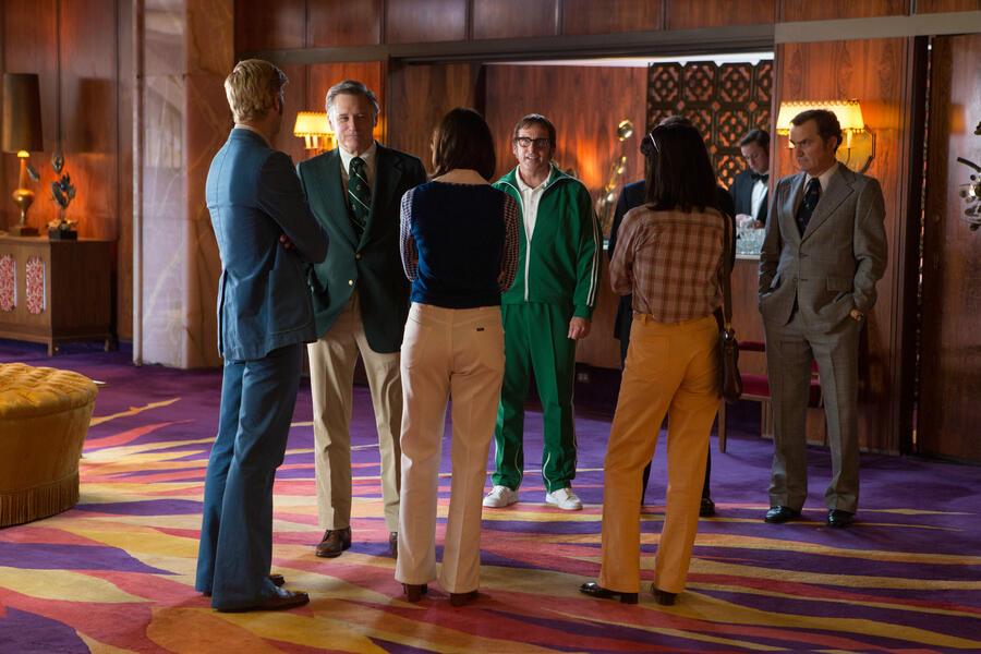 Battle of the Sexes mit Emma Stone, Steve Carell, Bill Pullman und Austin Stowell