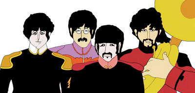 Die Beatles in Yellow Submarine