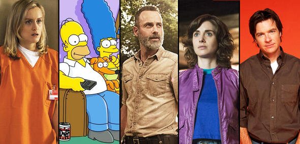 Orange Is the New Black, Die Simpsons, The Walking Dead, GLOW, Arrested Development