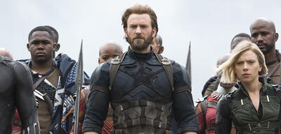 Chris Evans (Mitte) als Captain America in Avengers: Infinity War