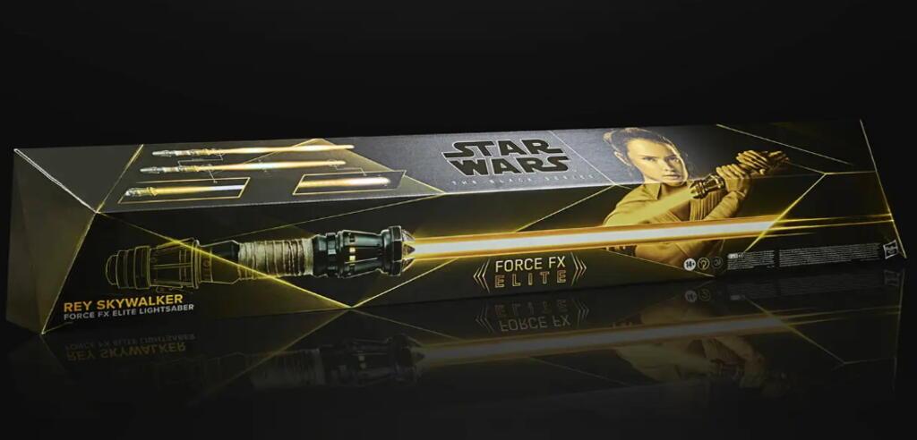 Star Wars The Black Series Rey Skywalker Force FX Elite