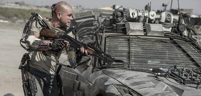 Matt Damon mit Exoskelett in Elysium
