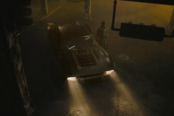 Das neue Batmobil mit Batman