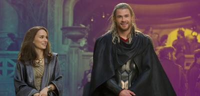 Natalie Portman und Chris Hemsworth in Thor: The Dark Kingdom
