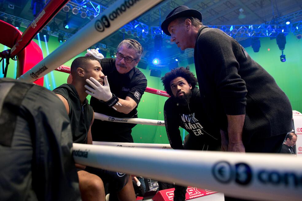 Creed II mit Sylvester Stallone, Michael B. Jordan und Steven Caple Jr.