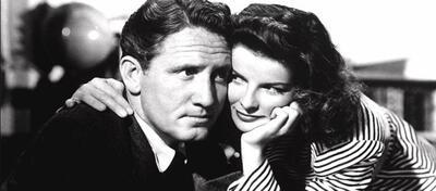 Spencer Tracy & Katharine Hepburn am Set von Die Frau von der man spricht