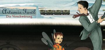 Buchcover-Ausschnitt der deutschen Ausgabe von Band 2: Artemis Fowl - Die Verschwörung