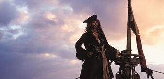 Johnny Depp als Jack Sparrow in Fluch der Karibik