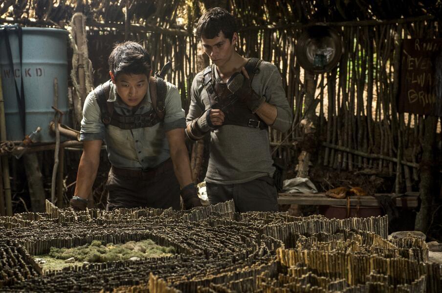 Maze Runner - Die Auserwählten im Labyrinth mit Dylan O'Brien und Ki Hong Lee