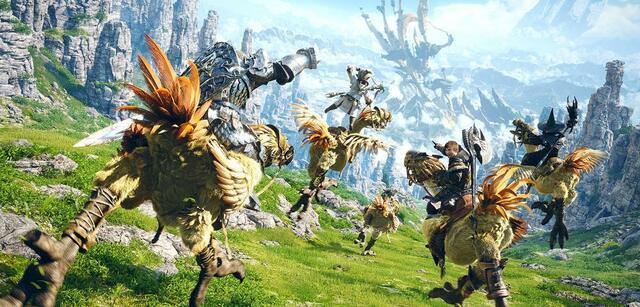 In Final Fantasy XIV zieht ihr nicht nur mit Chocobos durch die Welt