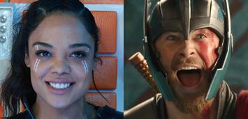 Bild zu:  Chris Hemsworth und Tessa Thompson in Thor 3