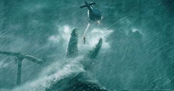 Mosasaurus vs. Helicopter in Jurassic World 2