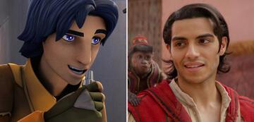 Ezra Bridger (links) und Mena Massoud (rechts)