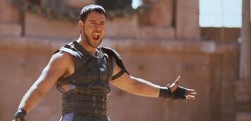 """Bild zu:  """"Gefällt es euch nicht? Seid ihr nicht deshalb hier?"""" Russel Crowe in Gladiator"""