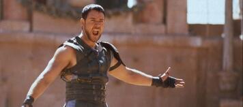 """""""Gefällt es euch nicht? Seid ihr nicht deshalb hier?"""" Russel Crowe in Gladiator"""