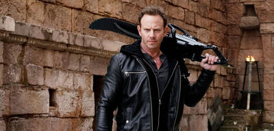 Ian Ziering inThe Last Sharknado: It's About Time