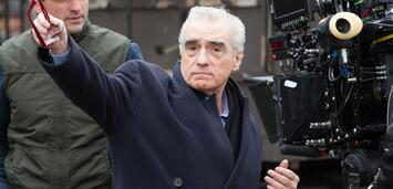 Bild zu:  Martin Scorsese am Set von Hugo Cabret