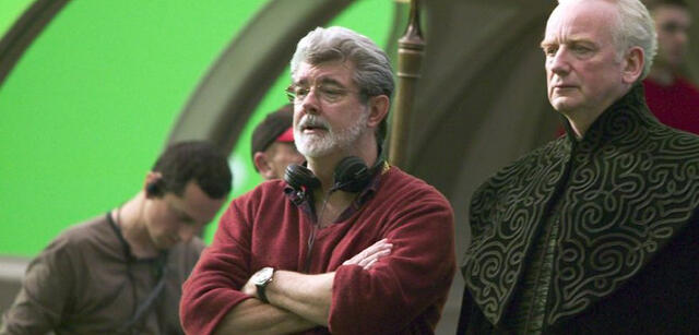 George Lucas am Set