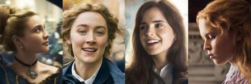Little Women: Amy, Meg, Jo, Beth (Florence Pugh, Saoirse Ronan, Emma Watson, Eliza Scanlen)