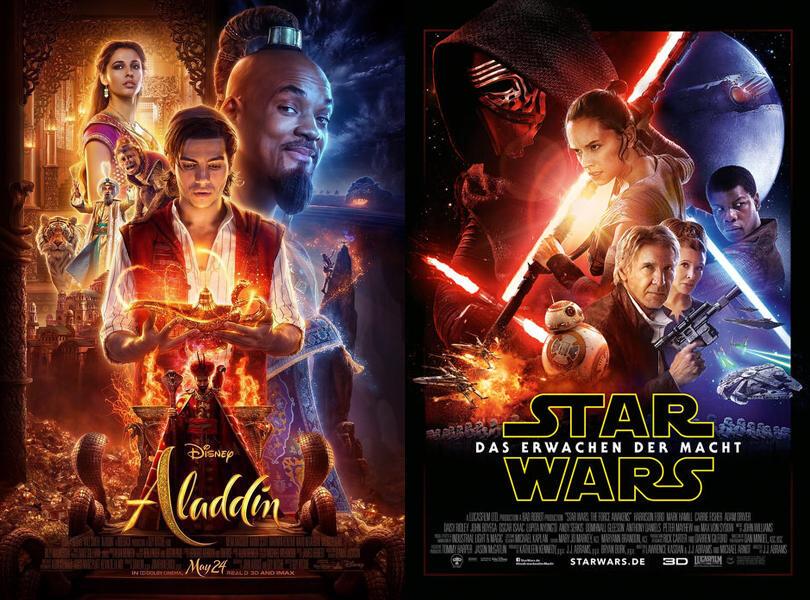 Nicht zu übersehen: Star Wars 7-Poster eiskalt für Aladdin kopiert