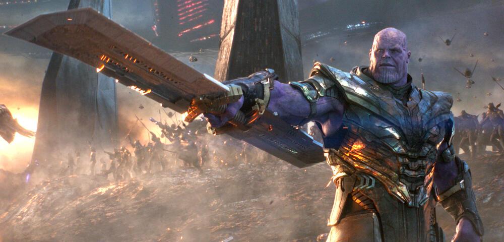 Avengers 4: Neues Bild zeigt Thanos mit nie zuvor gesehener Waffe