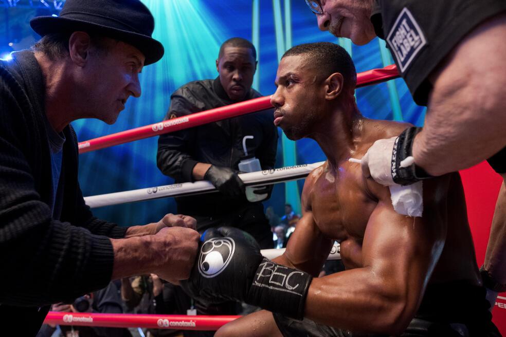 Creed II mit Sylvester Stallone und Michael B. Jordan