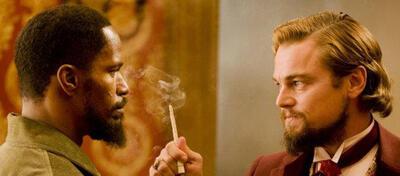 Jamie Foxx und Leonardo Di Caprio in Django Unchained