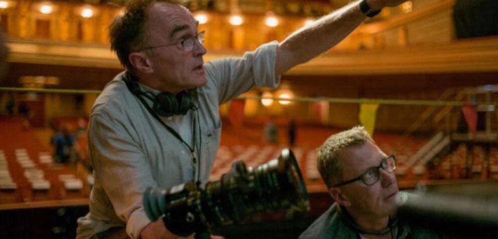Danny Boyle am Set von Steve Jobs